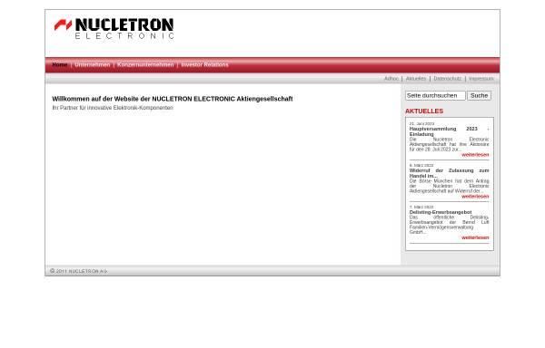 Vorschau von www.nucletron.net, Nucletron Electronic Vertriebs GmbH