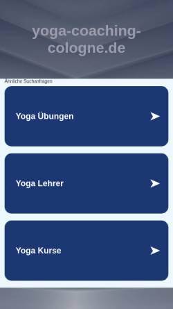 Vorschau der mobilen Webseite www.yoga-coaching-cologne.de, Coaching und Yoga in Köln