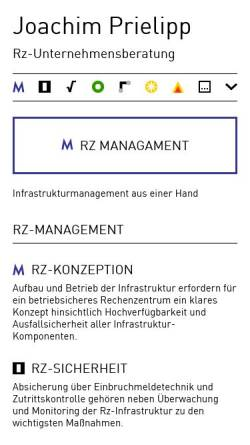 Vorschau der mobilen Webseite www.prielipp.de, DV-Beratung Joachim Prielipp