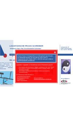Vorschau der mobilen Webseite www.logopaedische-praxis-schreiber.de, Logopädische Praxis Schreiber