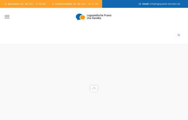 Vorschau von www.logopaedie-dresden.de, Logopädische Praxis Uta Handke