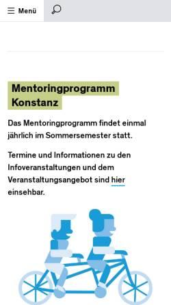 Vorschau der mobilen Webseite mentoringprogramm-konstanz.de, Mentoringprogramm Konstanz