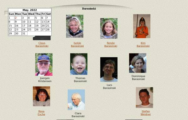 Vorschau von www.barasinski.de, Barasinski, Familie