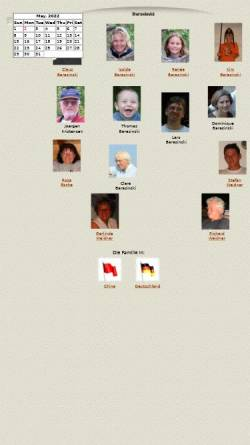 Vorschau der mobilen Webseite www.barasinski.de, Barasinski, Familie