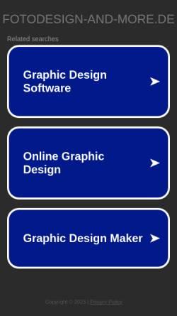 Vorschau der mobilen Webseite www.fotodesign-and-more.de, Bieber, Klaus