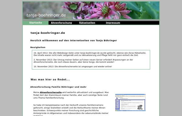 Vorschau von www.tanja-boehringer.de, Böhringer, Tanja