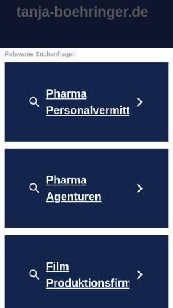 Vorschau der mobilen Webseite www.tanja-boehringer.de, Böhringer, Tanja