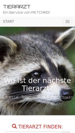 Vorschau der mobilen Webseite www.tierarzt.at, Tierarzt online