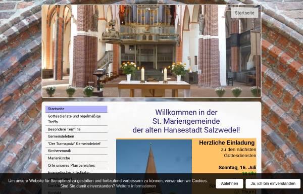 Vorschau von www.marienkirche-salzwedel.de, Marienkirche Salzwedel