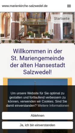 Vorschau der mobilen Webseite www.marienkirche-salzwedel.de, Marienkirche Salzwedel