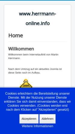 Vorschau der mobilen Webseite www.herrmann-online.info, Herrmann, Martin