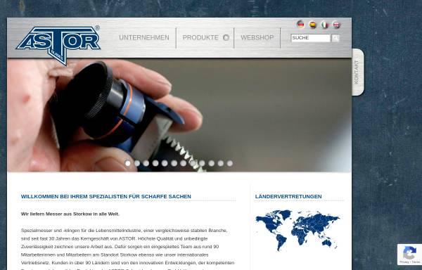 Vorschau von www.astorblades.de, Astor Schneidwerkzeuge GmbH