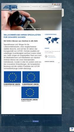 Vorschau der mobilen Webseite www.astorblades.de, Astor Schneidwerkzeuge GmbH