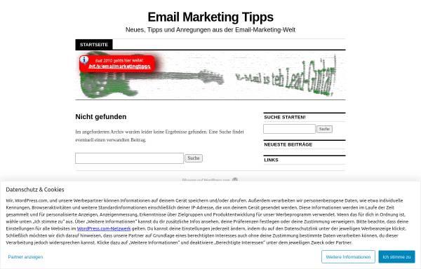 Vorschau von emailmarketingtipps.wordpress.com, Email MarketingTipps