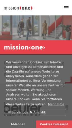Vorschau der mobilen Webseite www.mission-one.de, Mission One eRelations AG