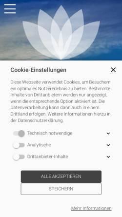 Vorschau der mobilen Webseite www.shiatsu-jelden.de, Jelden Kristine