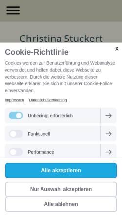 Vorschau der mobilen Webseite www.shiatsu-in-berlin.de, Stuckert Christina