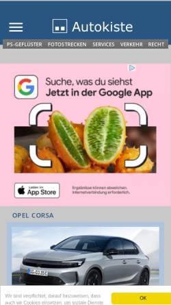 Vorschau der mobilen Webseite www.autokiste.de, Autokiste