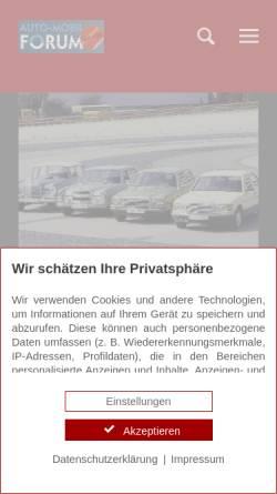 Vorschau der mobilen Webseite www.auto-mobil-forum.de, Auto-Mobil-Forum.de