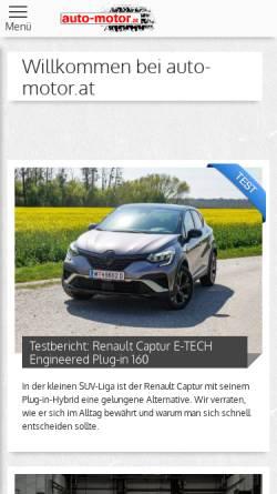 Vorschau der mobilen Webseite www.auto-motor.at, Auto-Motor.at