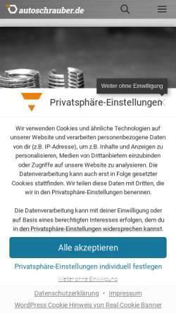 Vorschau der mobilen Webseite www.autoschrauber.de, Autoschrauber.de