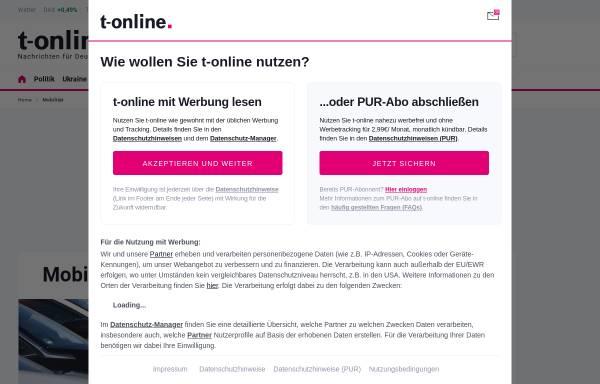 Vorschau von www.t-online.de, auto.t-online.de