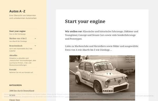 Vorschau von www.cars-a-z.net, Fahrzeuge von A bis Z