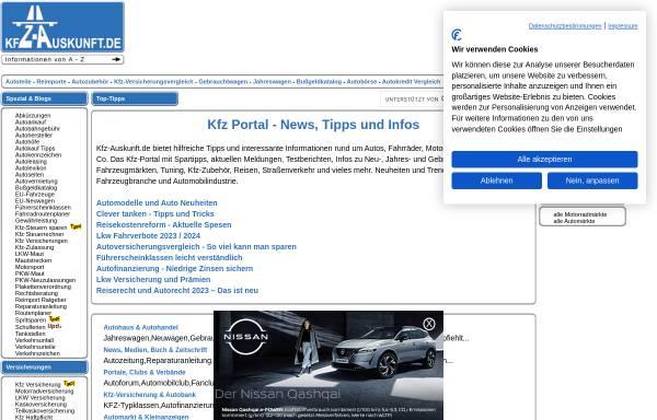 Vorschau von www.kfz-auskunft.de, Kfz-Auskunft.de
