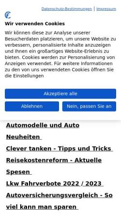 Vorschau der mobilen Webseite www.kfz-auskunft.de, Kfz-Auskunft.de