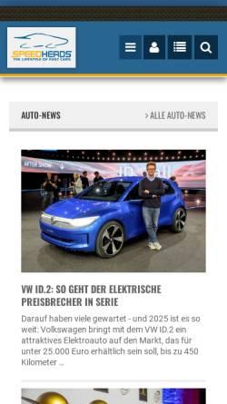 Vorschau der mobilen Webseite www.speedheads.de, Speed-Heads