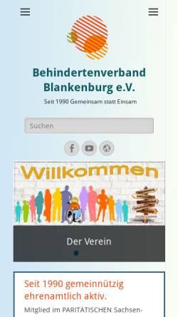 Vorschau der mobilen Webseite bv-blankenburg.de, Behindertenverband Blankenburg e.V.