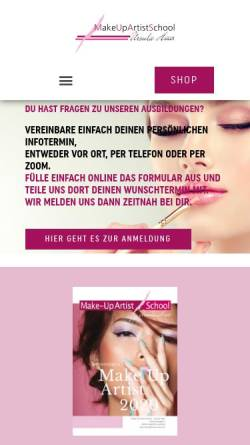 Vorschau der mobilen Webseite www.ursula-haas.de, Ursula Haas