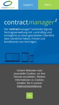 Vorschau der mobilen Webseite www.contractmanager.de, CM Software & Consulting GmbH - Vertragsmanagement