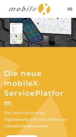 Vorschau der mobilen Webseite www.mobilexag.de, MobileX AG