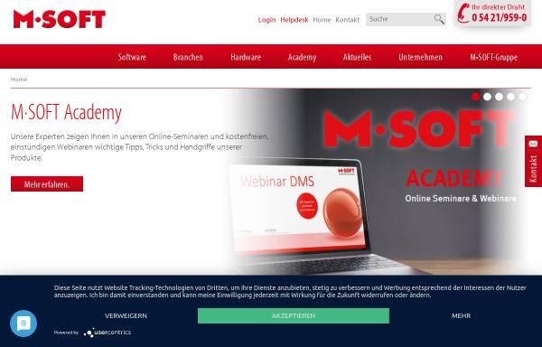 Vorschau von www.msoft.de, M-Soft Organisationsberatung GmbH
