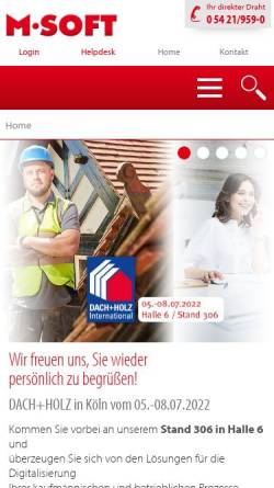 Vorschau der mobilen Webseite www.msoft.de, M-Soft Organisationsberatung GmbH
