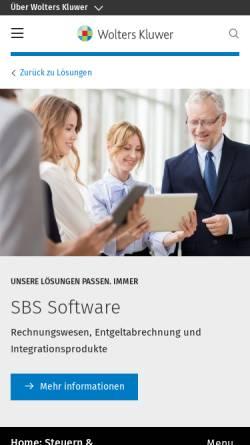Vorschau der mobilen Webseite www.sbs-software.de, SBS Software GmbH