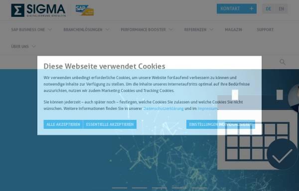 Vorschau von sigmagmbh.de, Sigma Software und Consulting GmbH