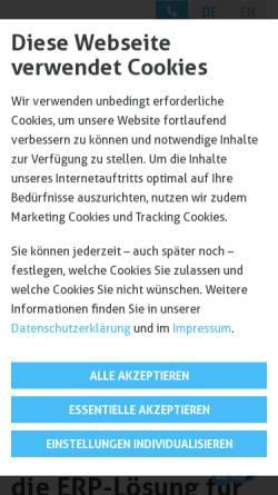 Vorschau der mobilen Webseite sigmagmbh.de, Sigma Software und Consulting GmbH