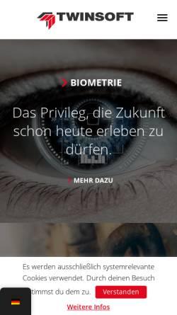 Vorschau der mobilen Webseite www.twinsoft.de, TWINSOFT GmbH & Co. KG