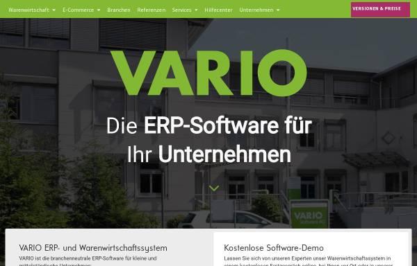 Vorschau von www.vario-software.de, Vario Software Entwicklung GmbH