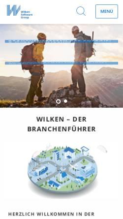 Vorschau der mobilen Webseite www.wilken.de, Wilken GmbH