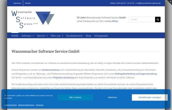 Vorschau von www.wannemacher-gmbh.de, WSS Wannemacher Software Service GmbH