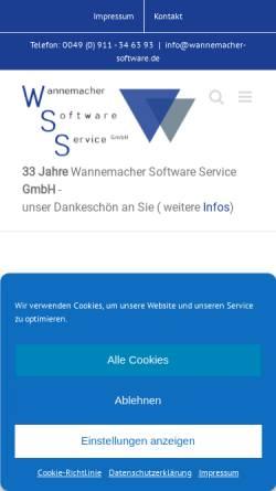 Vorschau der mobilen Webseite www.wannemacher-gmbh.de, WSS Wannemacher Software Service GmbH
