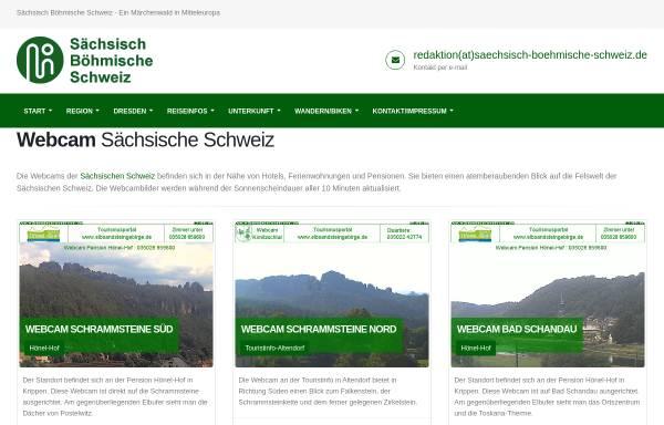 Vorschau von www.saechsisch-boehmische-schweiz.de, Webcams für die Sächsische und Böhmische Schweiz