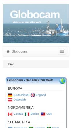 Vorschau der mobilen Webseite www.globocam.de, Die Welt sehen - Globocam