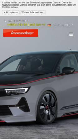 Vorschau der mobilen Webseite www.irmscher.com, Irmscher Automobilbau GmbH & Co.KG