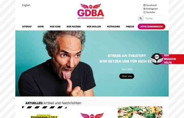 Vorschau von www.gdba.de, Verkehrsgewerkschaft GDBA