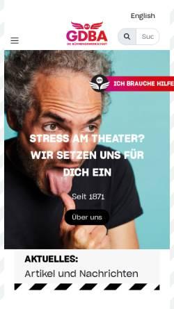 Vorschau der mobilen Webseite www.gdba.de, Verkehrsgewerkschaft GDBA