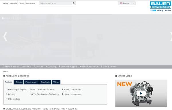 Vorschau von www.bauer-kompressoren.de, Bauer Kompressoren GmbH